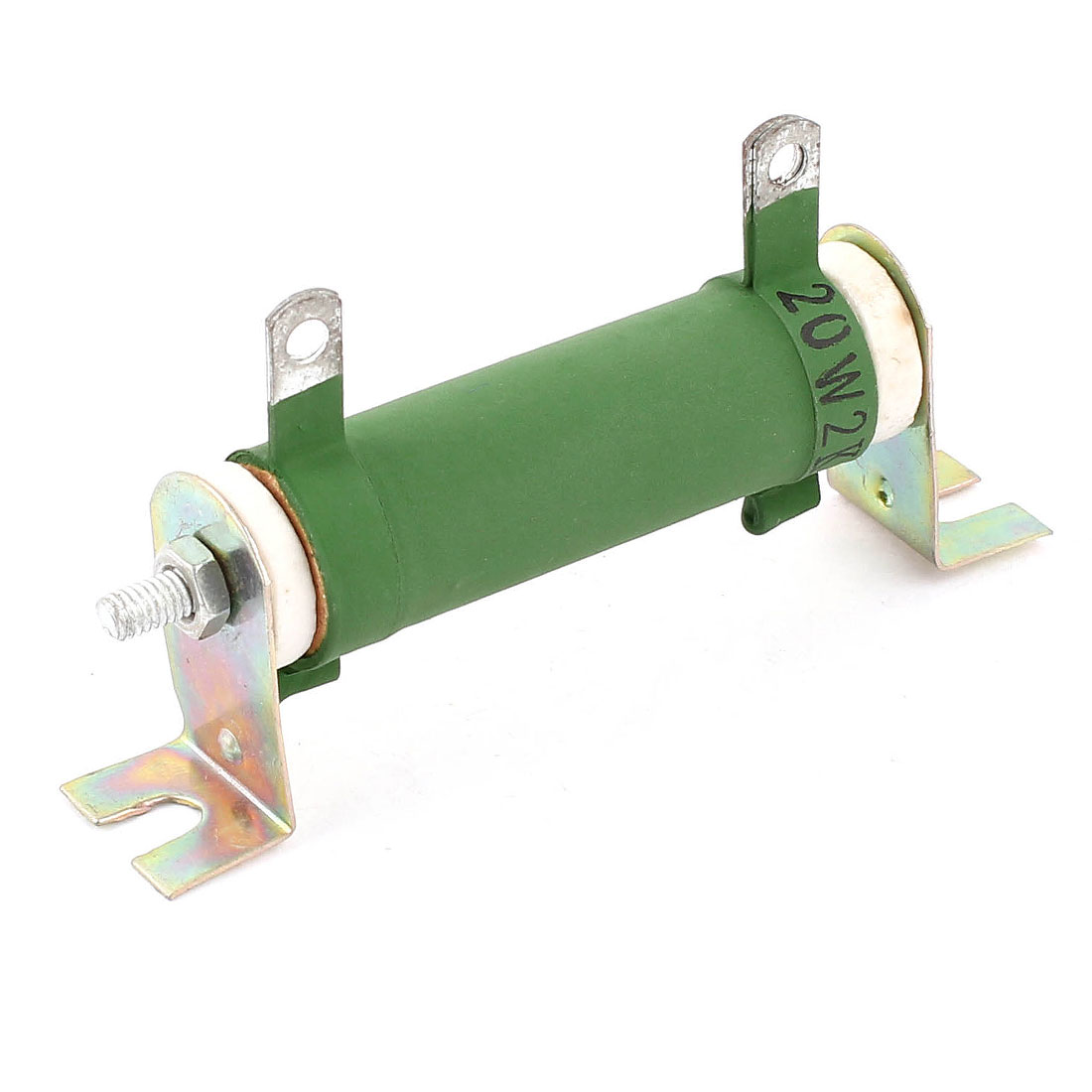 Green 2W 2K Ohm Ceramic Tube Adjustable Wire Wound Resistor