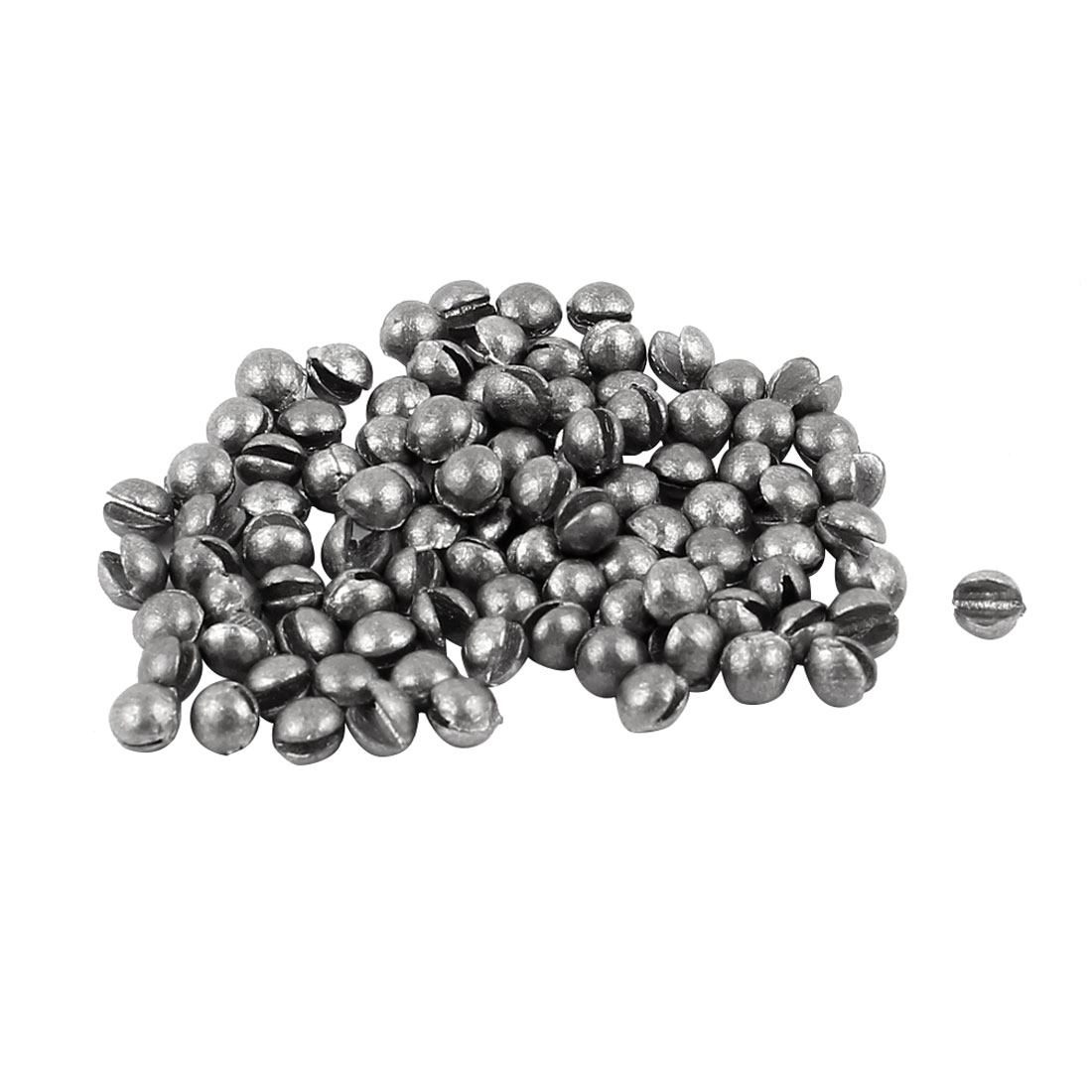 Freshwater Round Shape Lead Split Shots Fishing Sinkers 3.5mm Dia 100pcs 0.5g Per Piecs