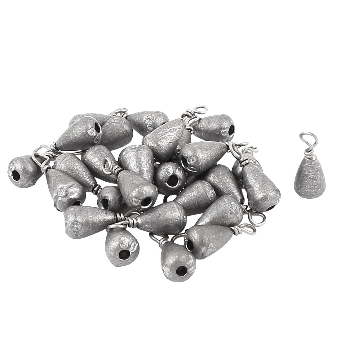 Fish Tackle Bass Casting Swivel Sinker 3g Per Piece Fishing Lead Weight 30Pcs