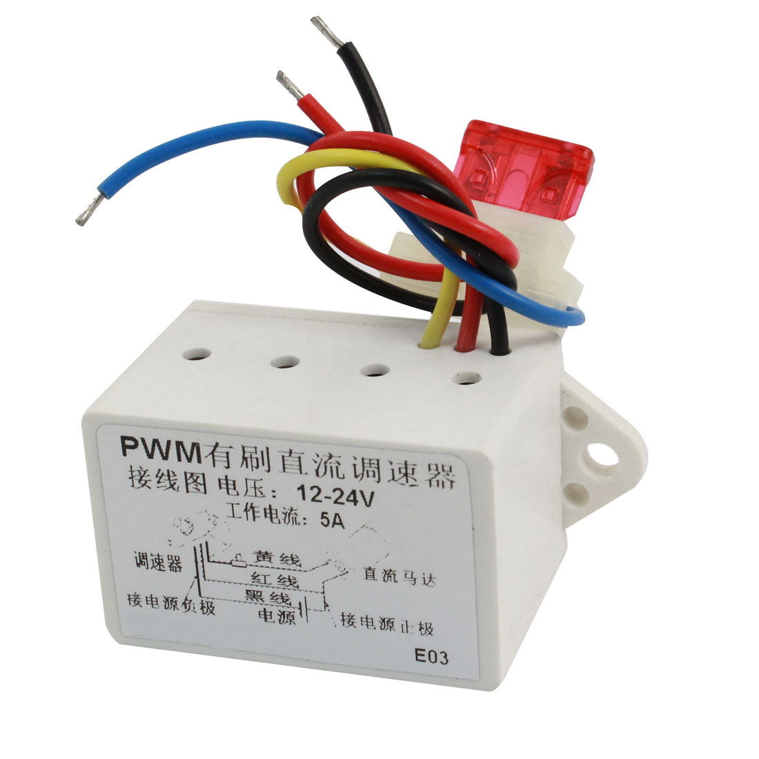 DC 12-24V 5A Power Single Phase Stepless Variable PWM Motor Speed Controller