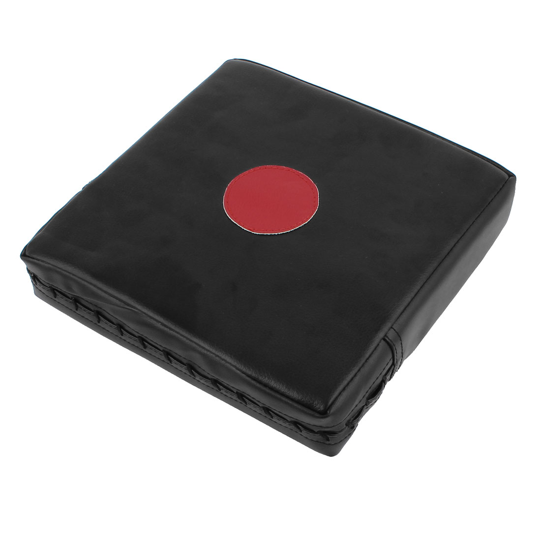 24cmx24cmx5cm Boxing Faux Leather Coated Wall Punch Pad Bag Target Black Red