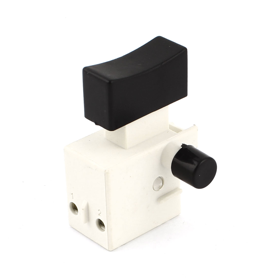 AC 250V 4A 125V 8A DPST Lock on Trigger Switch Black White for Electric Drill