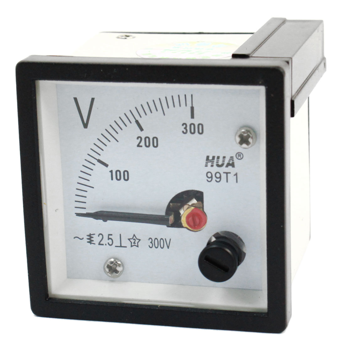 AC 0-300V Class 2.5 Square Shape Analog Volt Panel Mount Meter Gauge