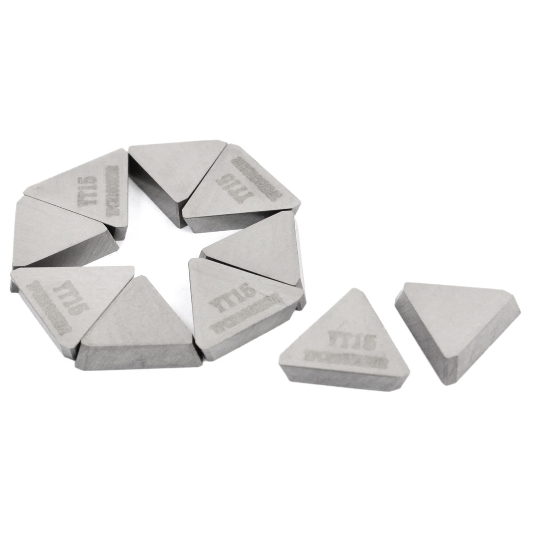 10 Pcs YT15 Triangle Hard Alloy Cemented Carbide Inserts Cutter Tip