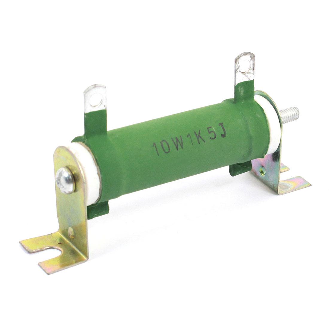 10W 1000 Ohm Resistance Wirewound Resistor Green