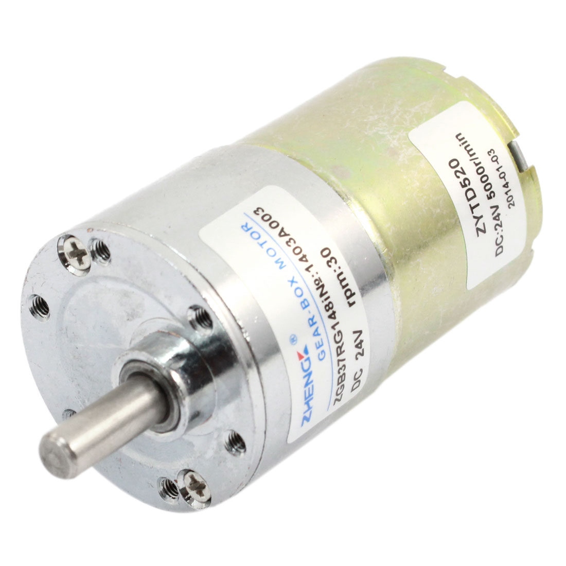 6mm Dia Shaft Permanent Magnetic DC Geared Gear Box Motor 24V 30RPM