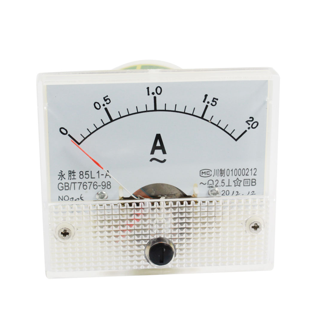 Analog Panel Ammeter Gauge DC 0 - 2.0A Measuring Range 2.5 Accuracy