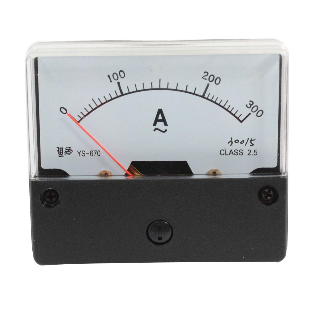 Class 2.5 AC 0-300A Fine Tuning Dial Alternating Test Panel Meter Ammeter Gauge
