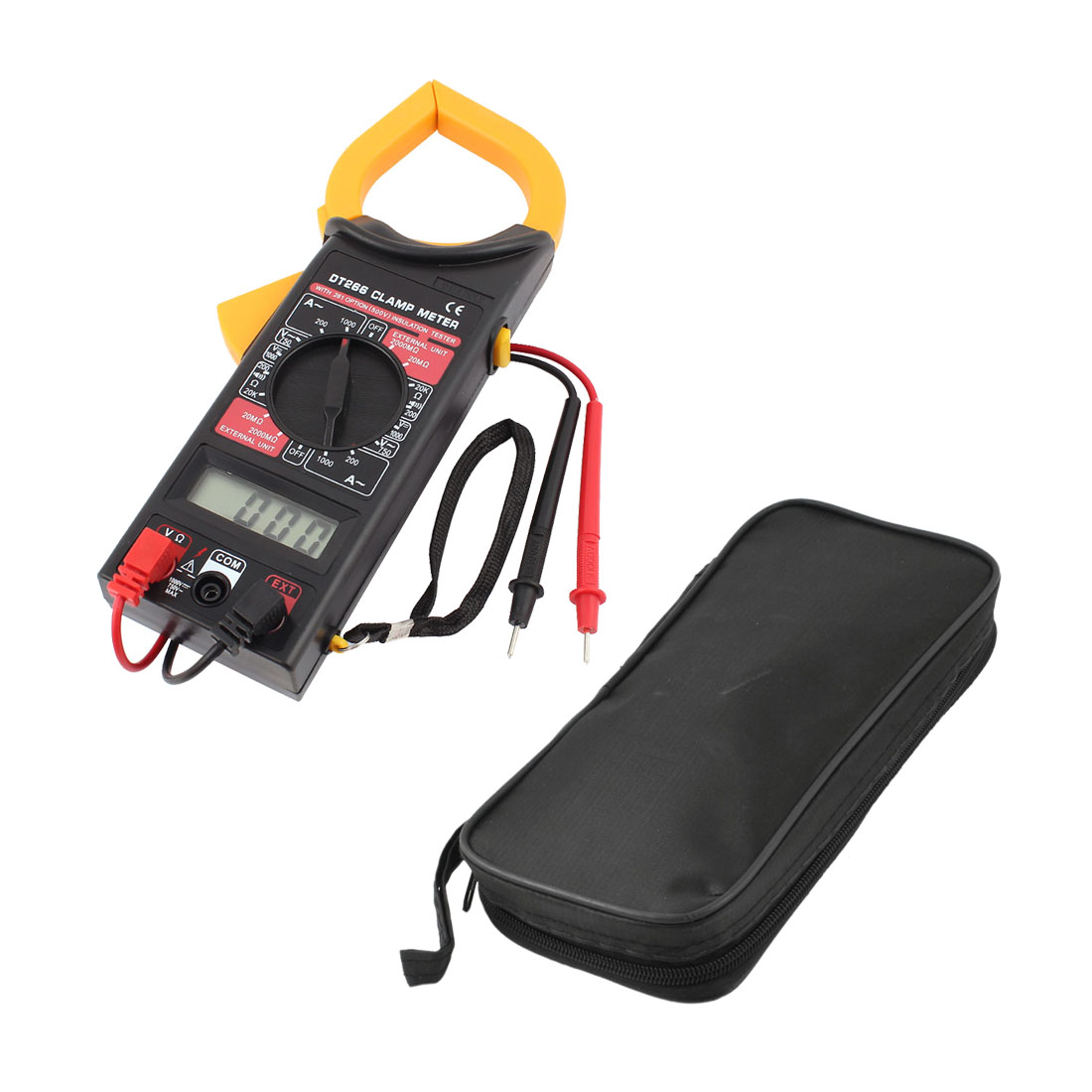 AC DC Voltage Ampere Resistance Test LCD Digital Analogue Clamp Meter Multimeter w Testing Lead
