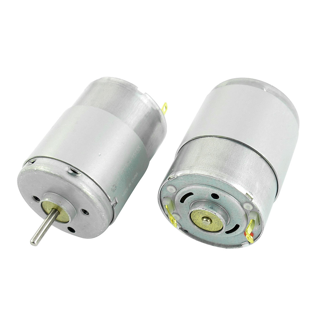 2Pcs RF-370 DC 12V 2mm Dia Shaft 9000 r/min Rotary Speed Output Cylinder Shaped High Torque Electric Motor