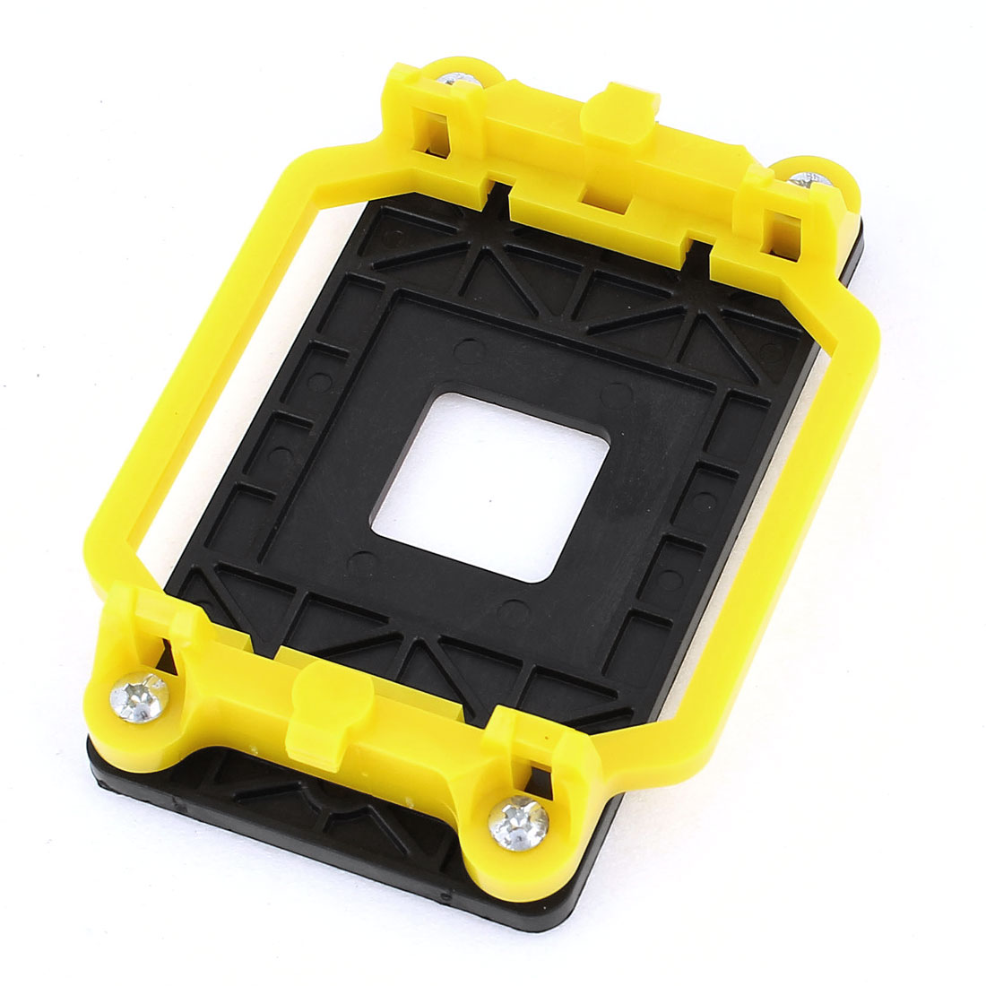 Black Yellow Plastic AMD CPU Fan Stand Bracket Base Socket for AM2 AM3