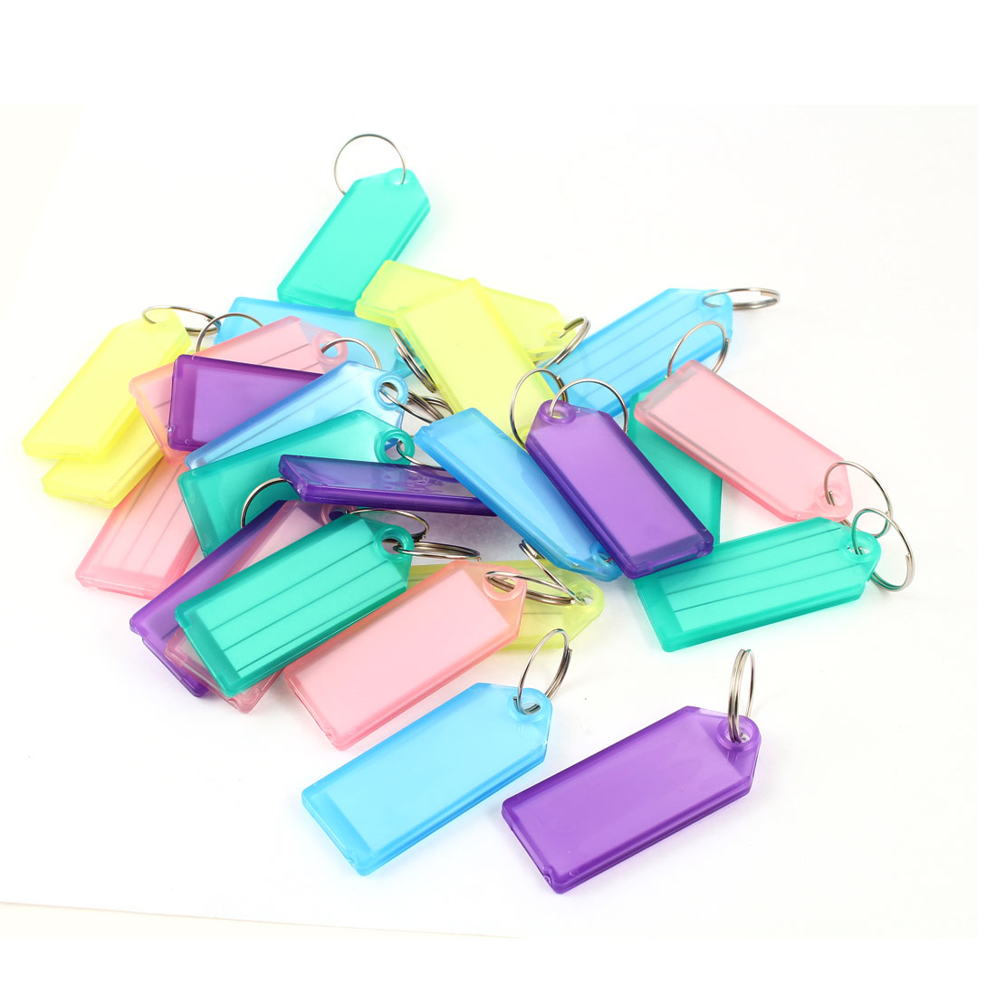 25 Pcs Colorful Plastic Name Tag Badge Clip Holder Keychain for Barber Salesman