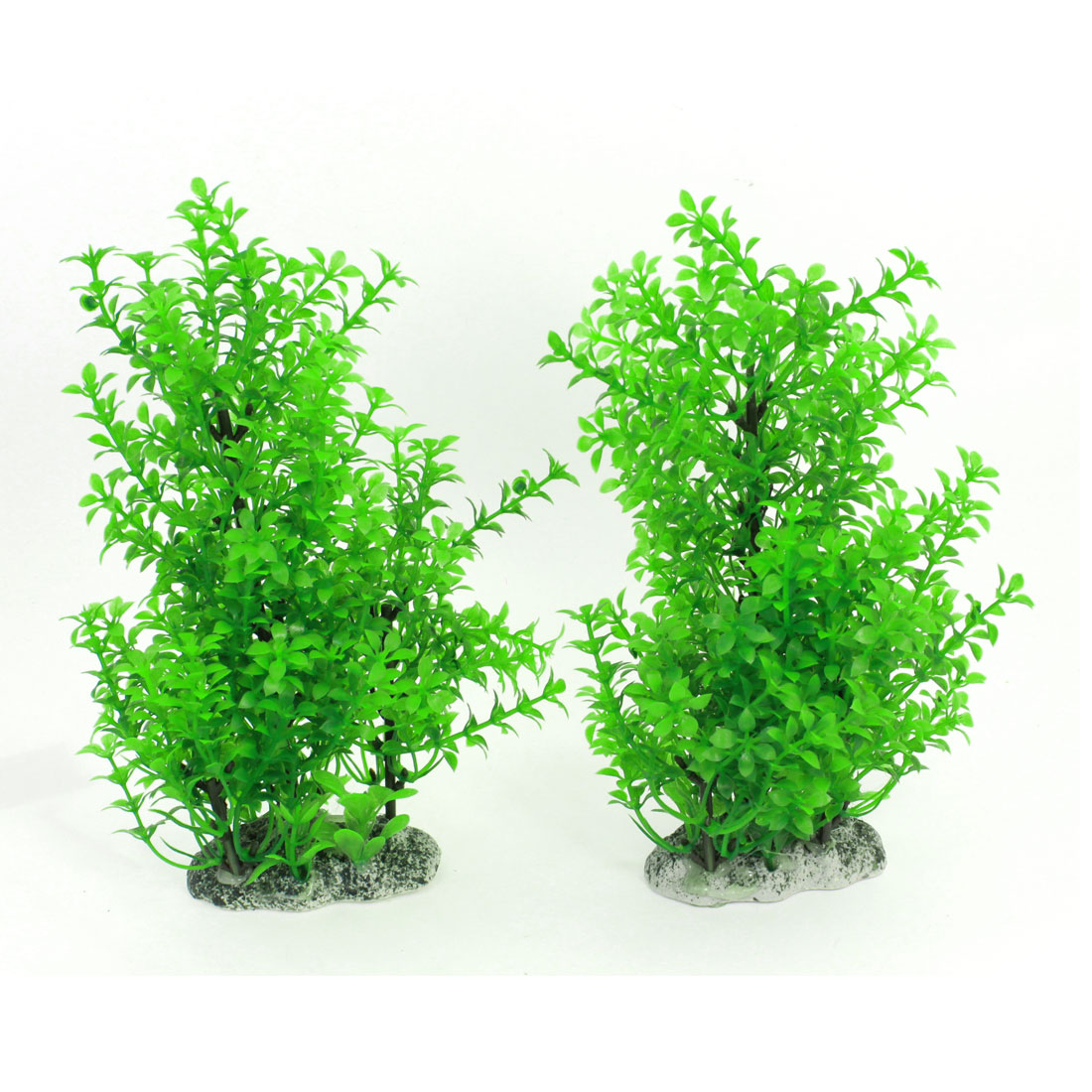 "Aquarium Plastic Simulation Water Grass Decor Green 9.1"" High 2 Pcs"