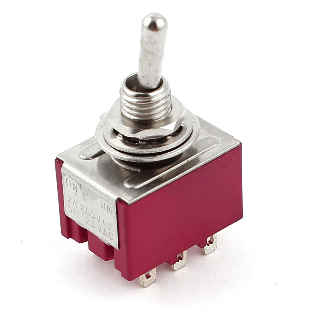 3PDT 2 Positions Locking Power Control Toggle Switch AC125V/5A 250V/2A