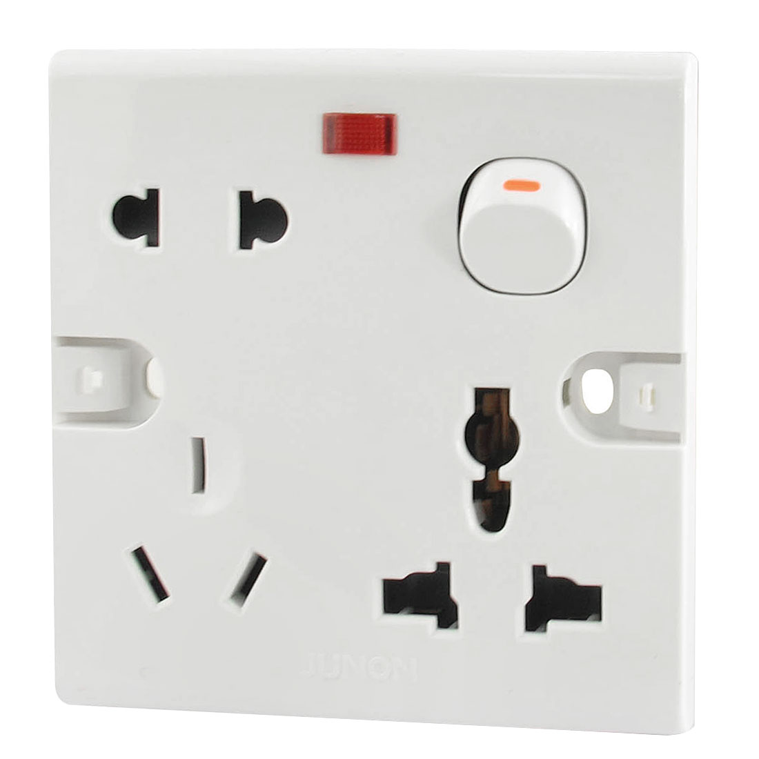 AC 250V 10A AU EU UK US Plug Socket One Gang Square Wall Panel Switch Plate