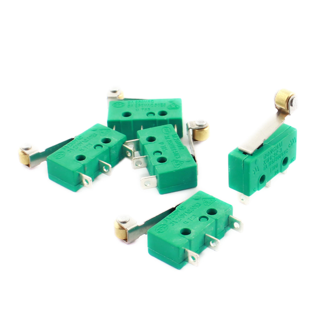 5 Pcs KW4-3Z-3 Micro Limit Switch Short Roller Lever Subminiature SPDT Snap Action LOT