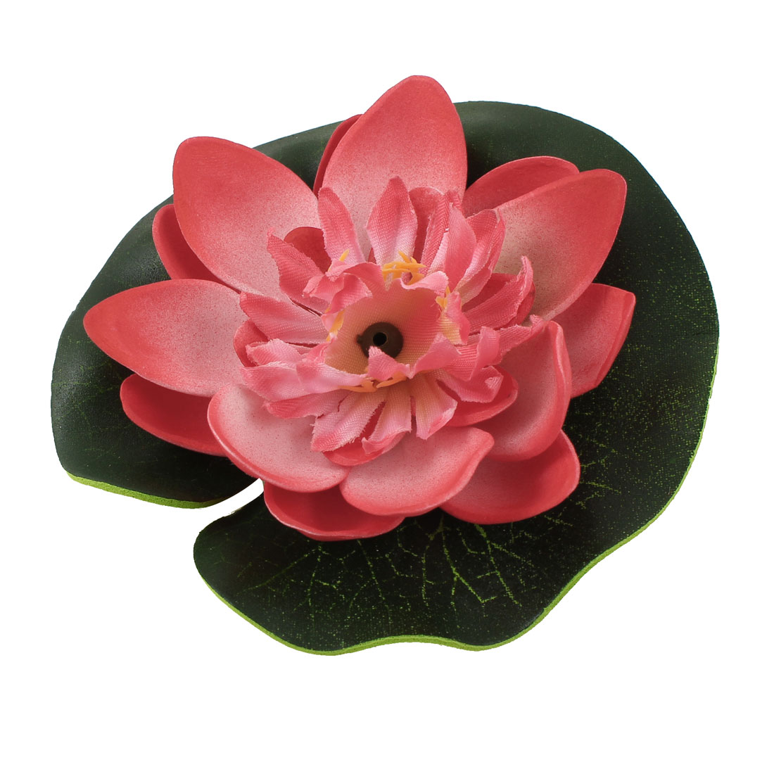 Aquarium Tank Lotus Shaped Foam Floating Plant Decor Red Green