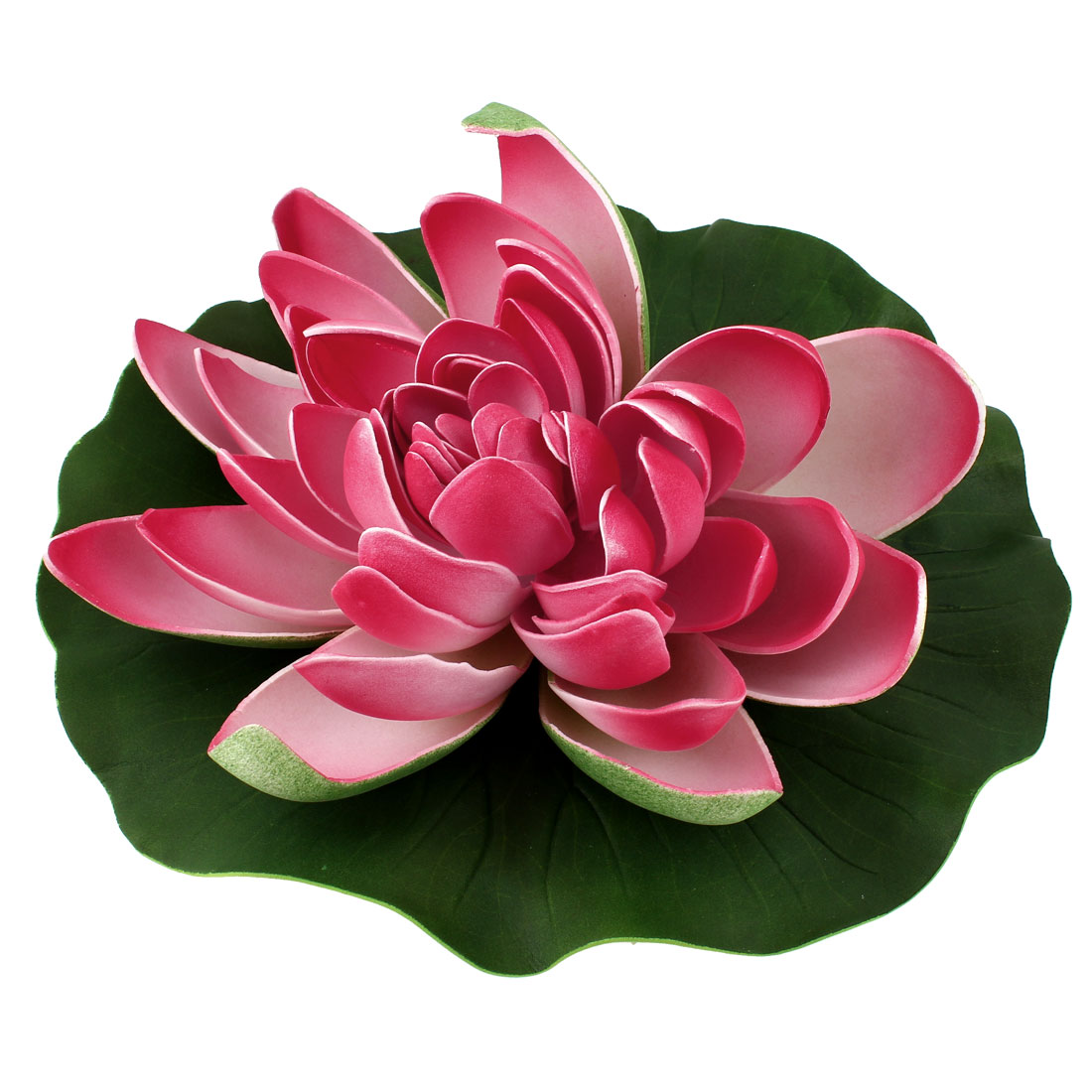 Home Garden Water Pond Decor Foam Artificial Floating Lotus Pink
