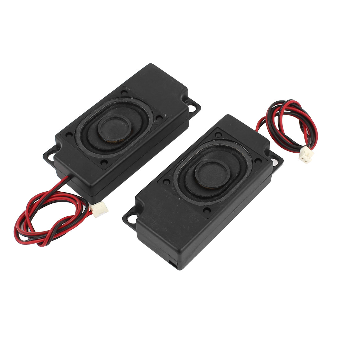 Pair 70mm x 33mm Wire Leads Plastic Housing Audio Speaker 8 Ohm 2 Watt