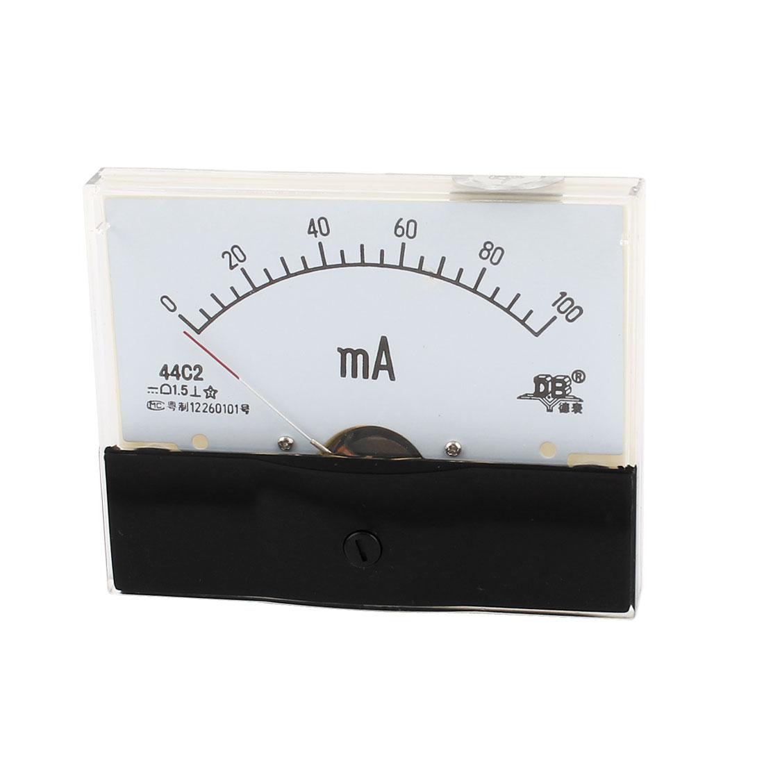 Fine Turning Dial DC 0-100mA Analog Ammeter Panel Meter 44C2