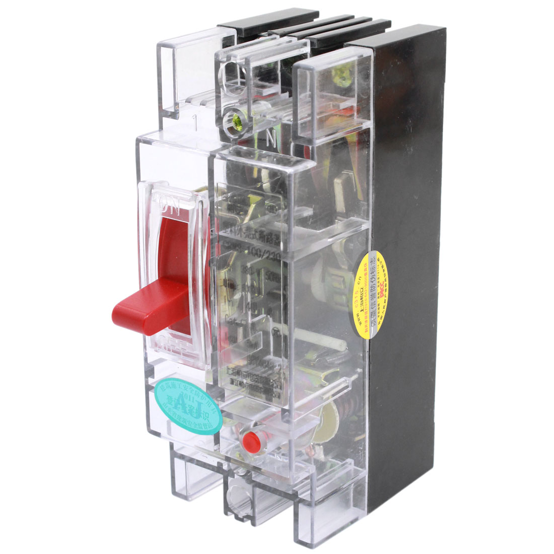 Transparent AC 380V 40A Amps 2P Moulded Case Circuit Breaker
