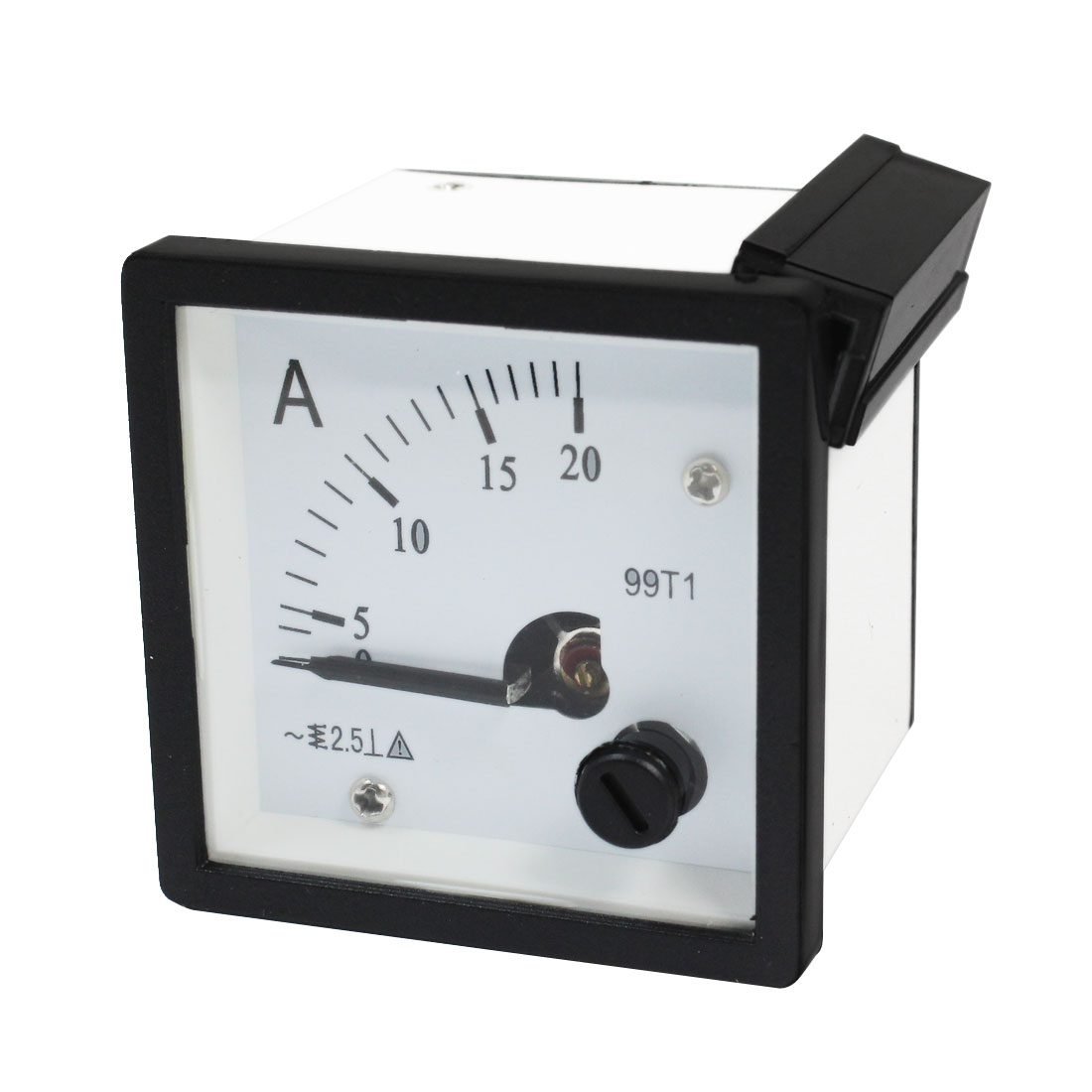 AC 0-20A Square Dial Current Test Panel Meter Ammeter Gauge
