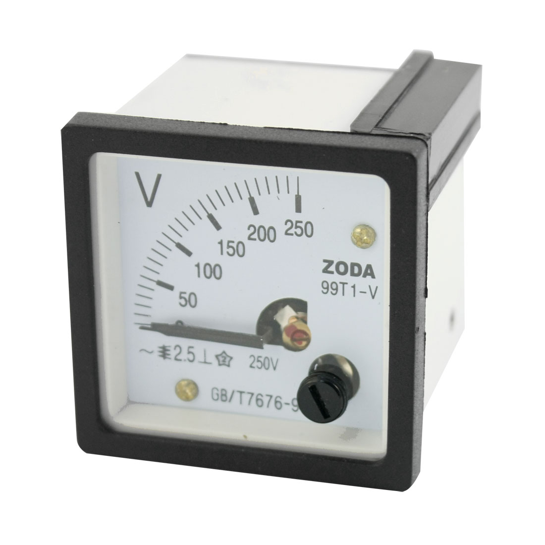 AC 0-250V Class 2.5 Square Analog Volt Panel Mount Meter Gauge