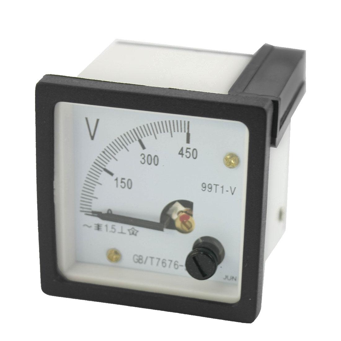 AC 0-450V Class 1.5 Square Analog Volt Panel Mount Meter Gauge