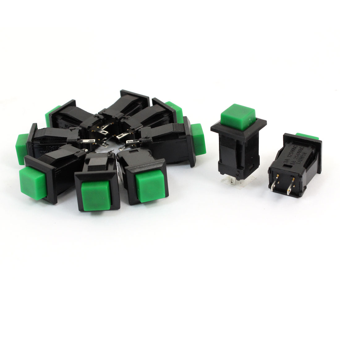 3A/AC125V 1A/AC250V SPST Square Head Push Button Switch for Machine Tool