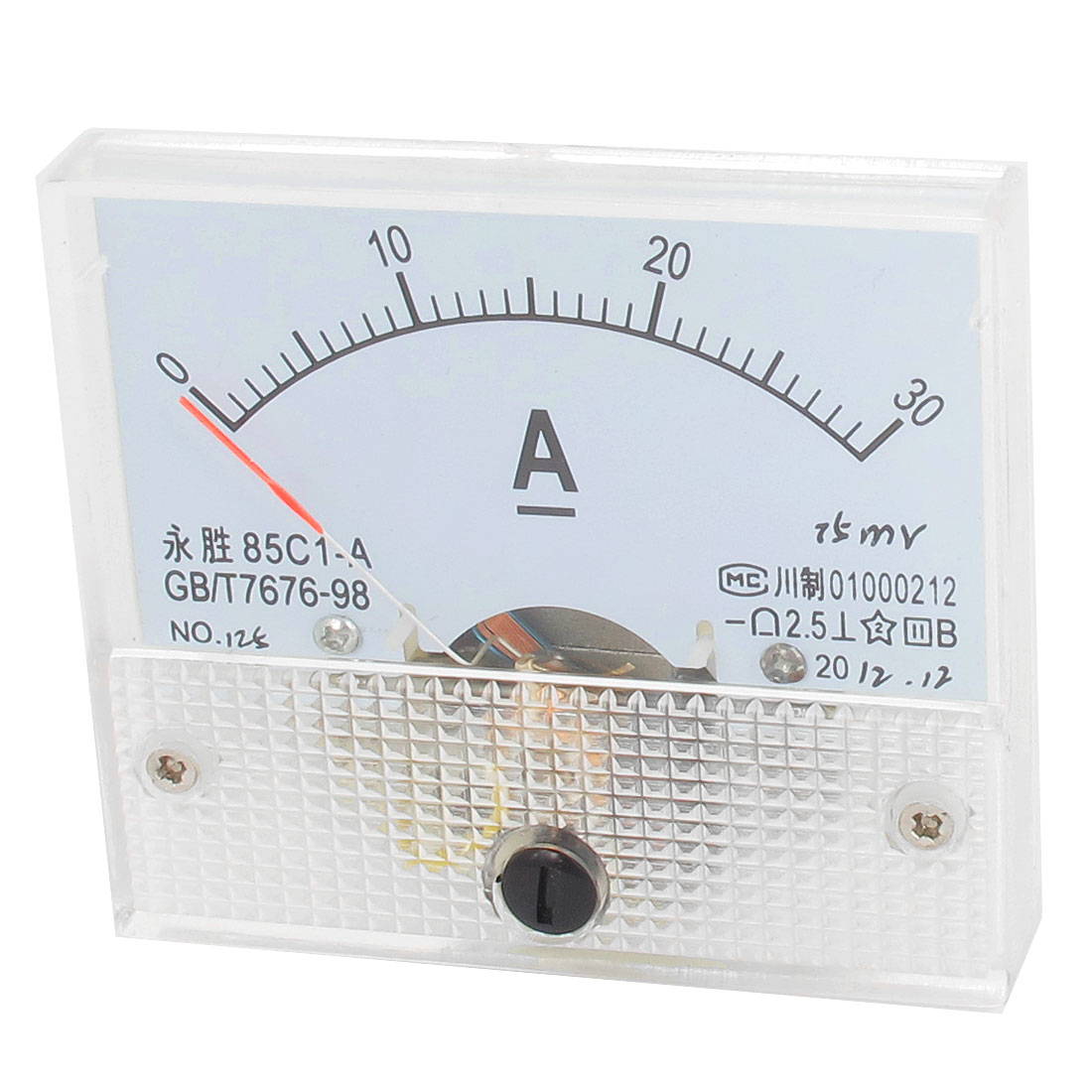 85C1-A DC 0-30Amp Class 2.5 Accuracy Rectangle Panel Mounting Analog Ammeter Ampere Meter