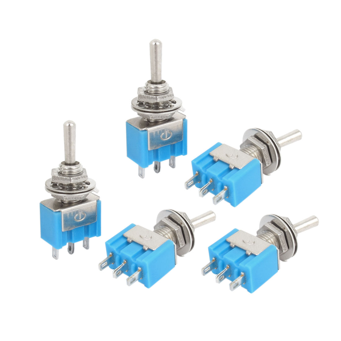 5pcs AC 125V 6A ON/OFF/ON 3-Position SPDT 3 Terminals Mini Latching Toggle Switch