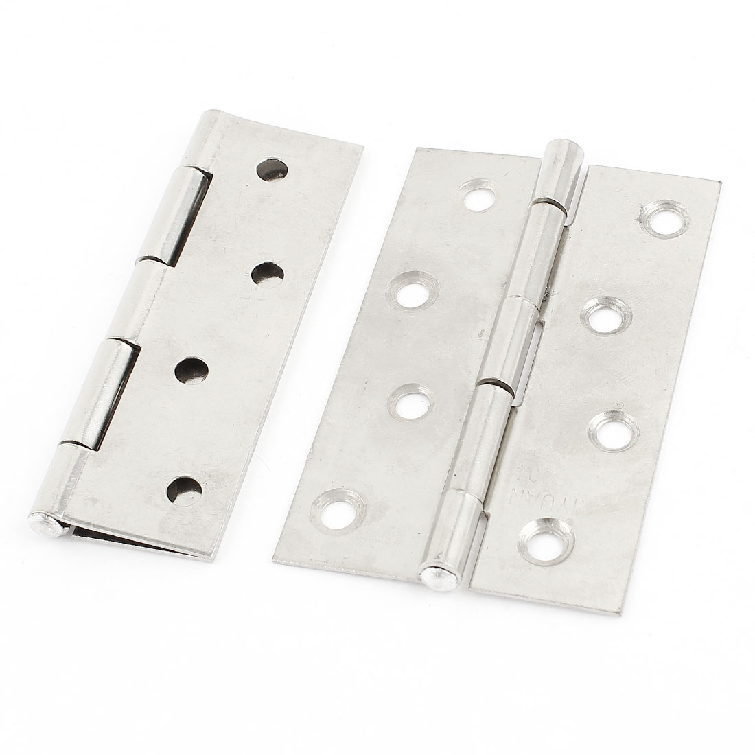 2 Pcs Cupboard Cabinet 6mm Dia Mounted Stainless Steel Folding Door Hinge