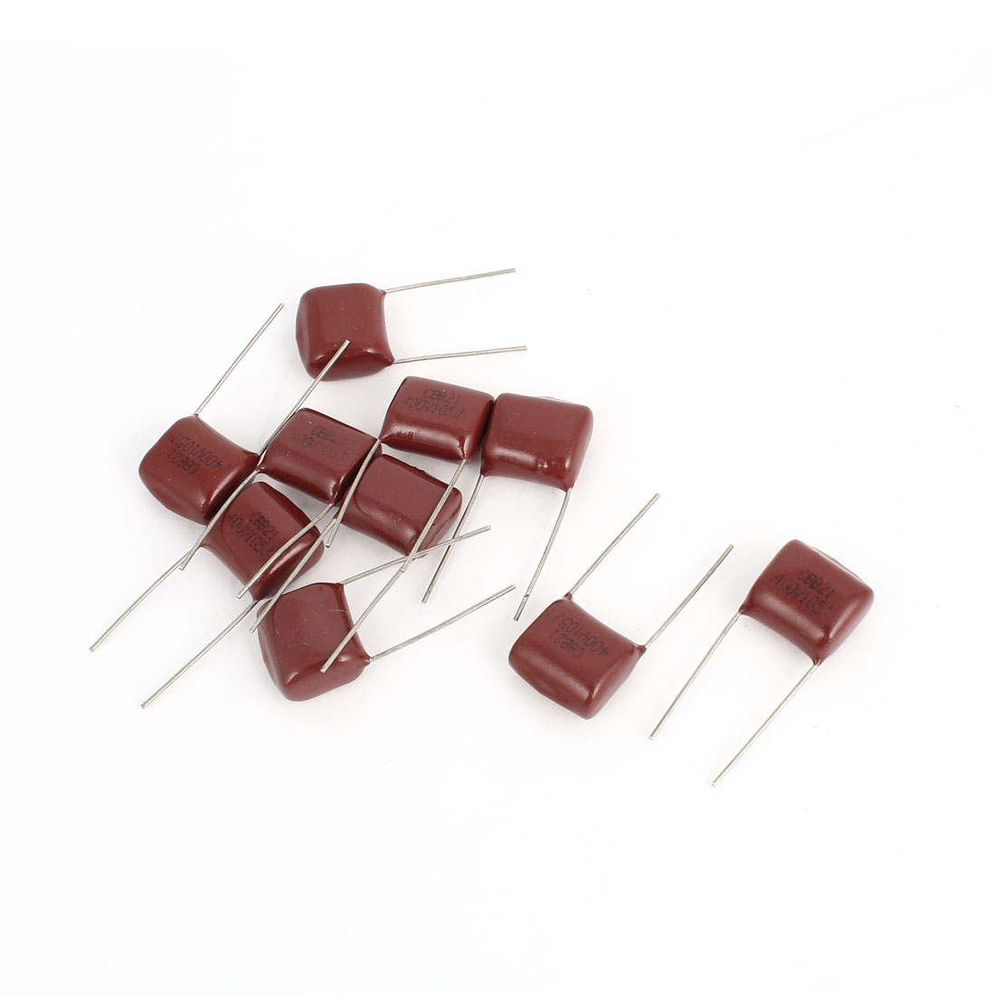 10PCS CBB21 400V 105J 1uf 5% Tolerance Radial Lead Metallized Polypropylene Film Capacitors