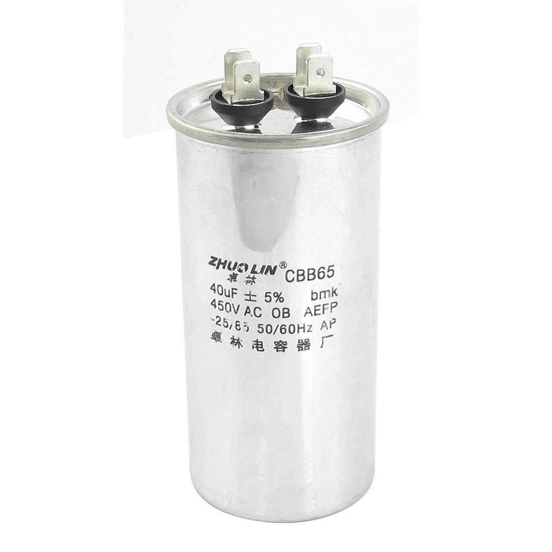 CBB65 AC450V 40uF Capacitance 5% Polypropylene Film Motor Running Capacitor for Air Conditioner