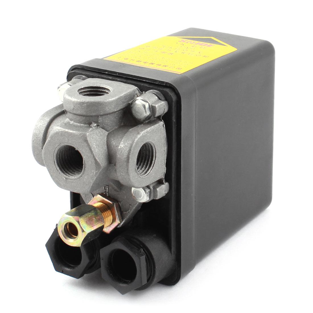 Air Compressor Pressure Switch Control Valve DPST 175PSI 12Bar 3-Port 1/4PT AC 240V 20A