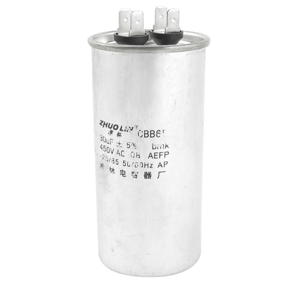 CBB65 AC 450V 30uF 5% Cylinder Shaped Polypropylene Film Motor Capacitor for Air Conditioner