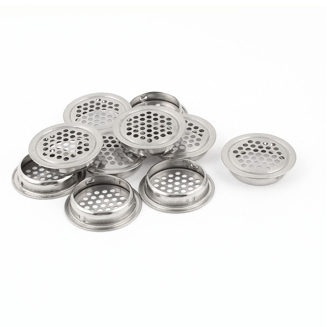 10 Pcs 35x42mm Silver Tone Stainless Steel Mesh Air Vent Louver Replacement