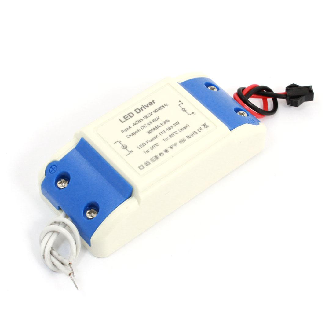 AC 85-265V 300mA Plastic Housing (12-18) x 1W Power Supply LED Driver