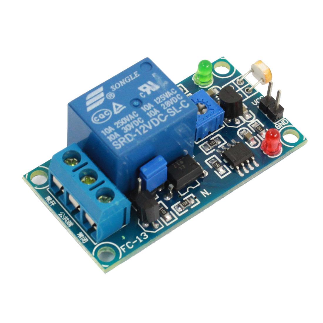DC 12V Photosensitive Resistance Light Sensitive Sensor Relay Module