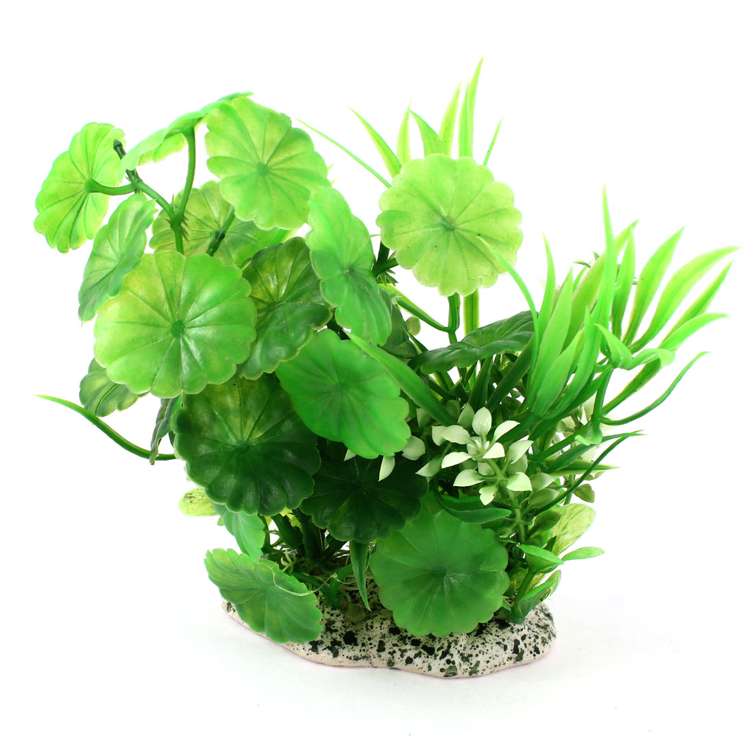 "Fish Tank Ornament Green Plastic Simulation Aquatic Plant Grass 4.3"" Height"