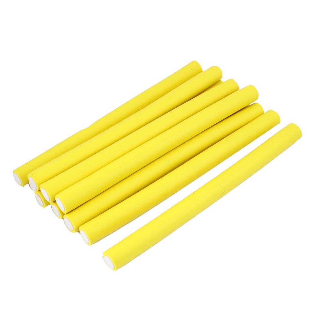 10Pcs Soft Foam Curler Tool DIY Styling Hair Rollers Yellow