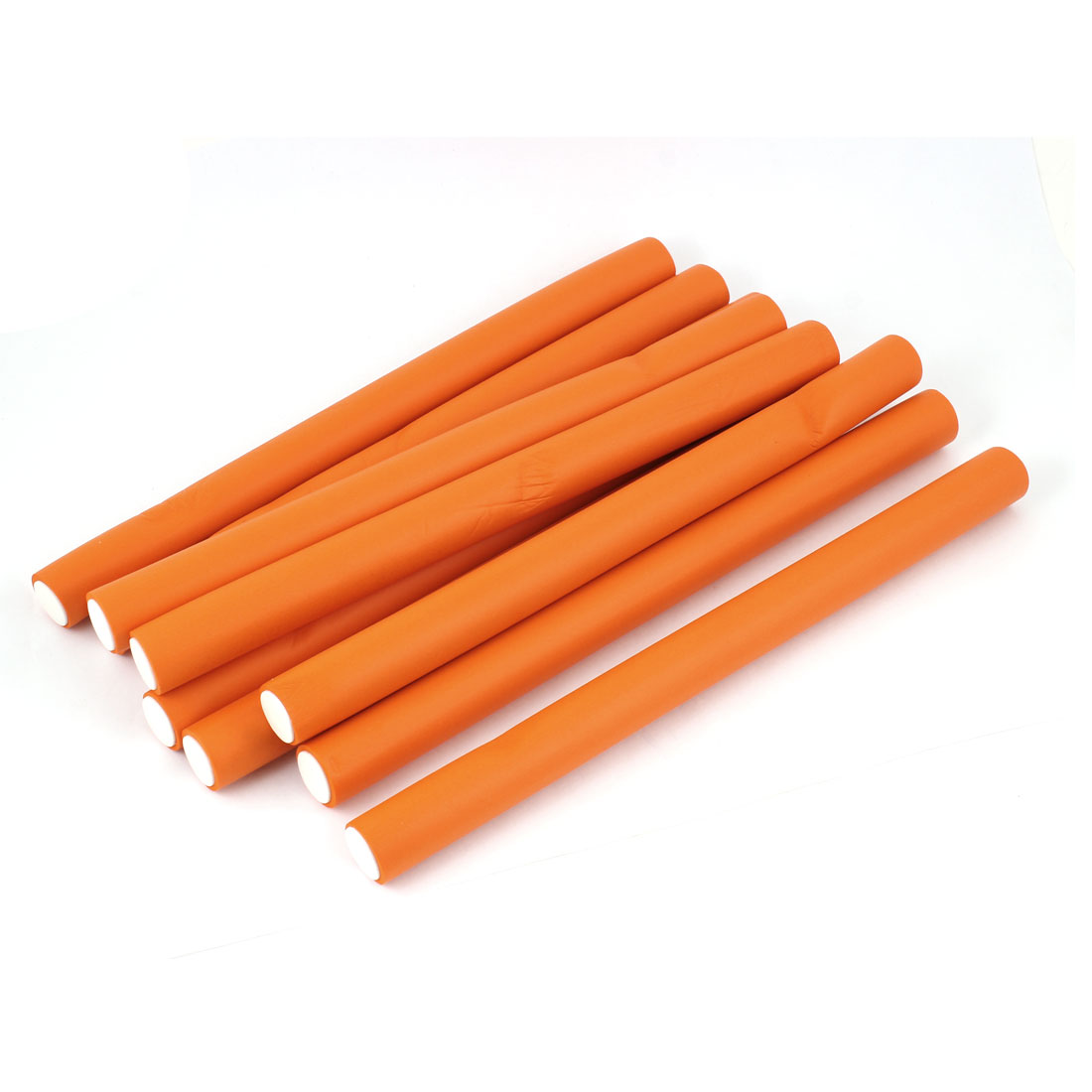10pcs Hair Curler Makers Soft Foam DIY Styling Hair Rollers Orange