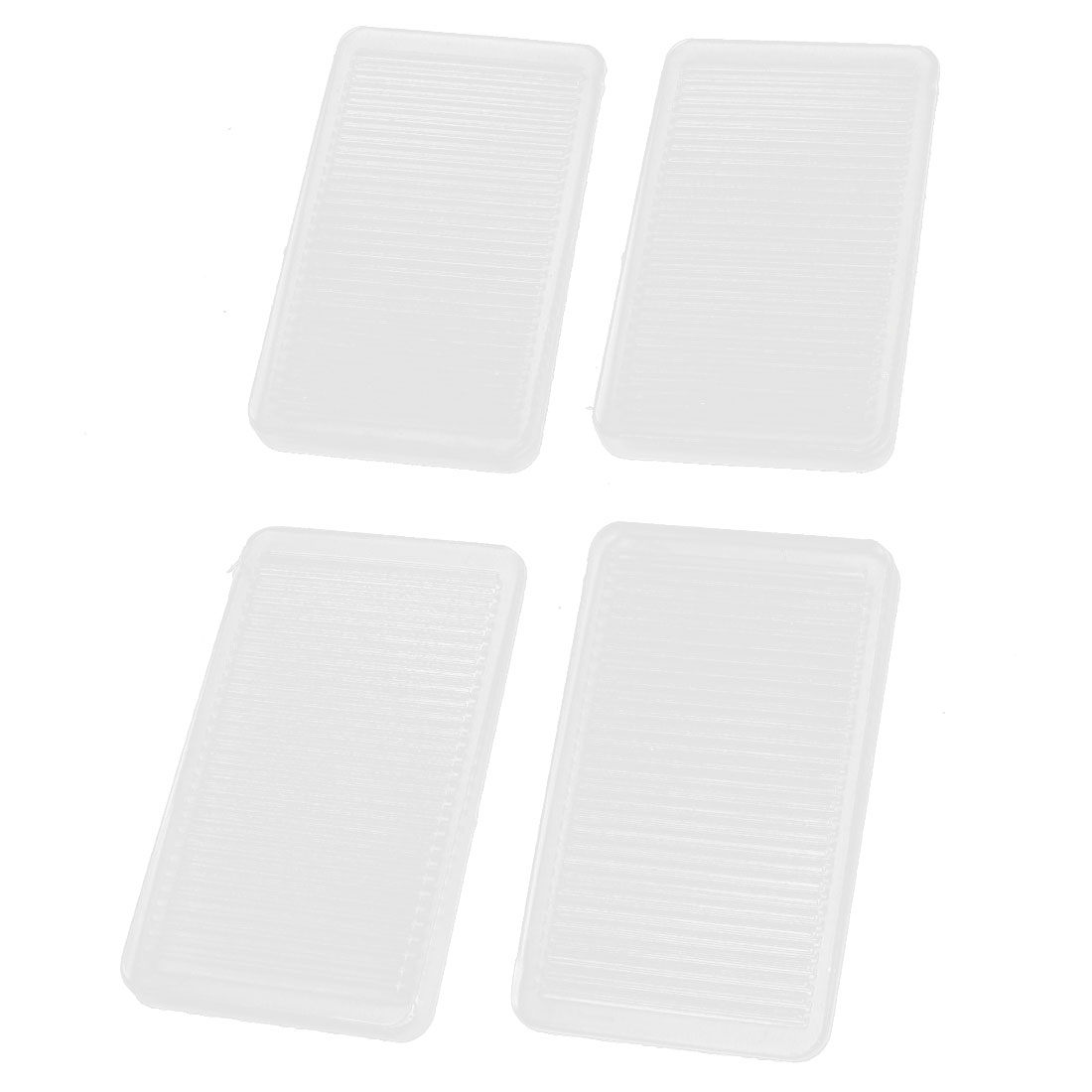 4 Pcs Clear Soft Rubber Anti Skid Slip Pad for Furniture Table Chair