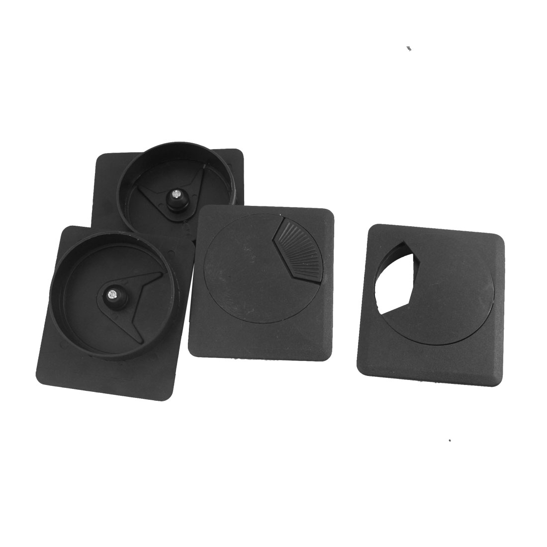 4 Pcs 55mm Mounting Hole Diameter Computer Desk Table Counter Top Cable Cord Plastic Grommets