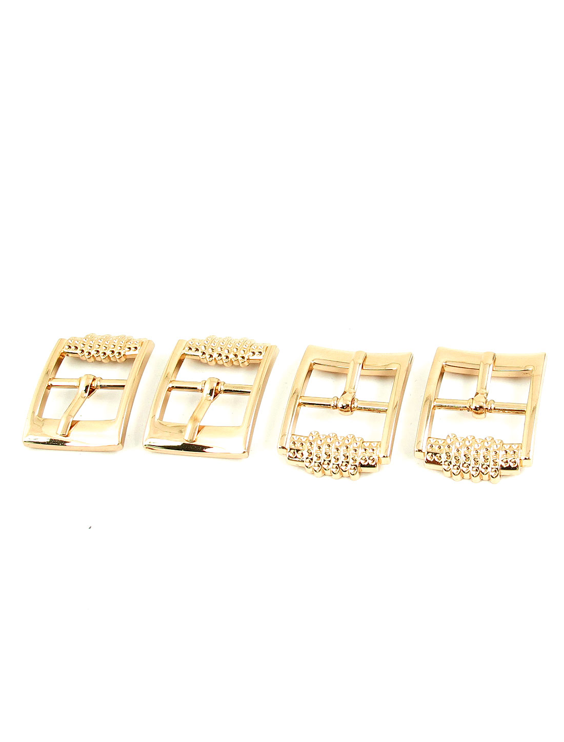4 Pcs Gold Tone Metal Belt Waistband Single Pin Buckle