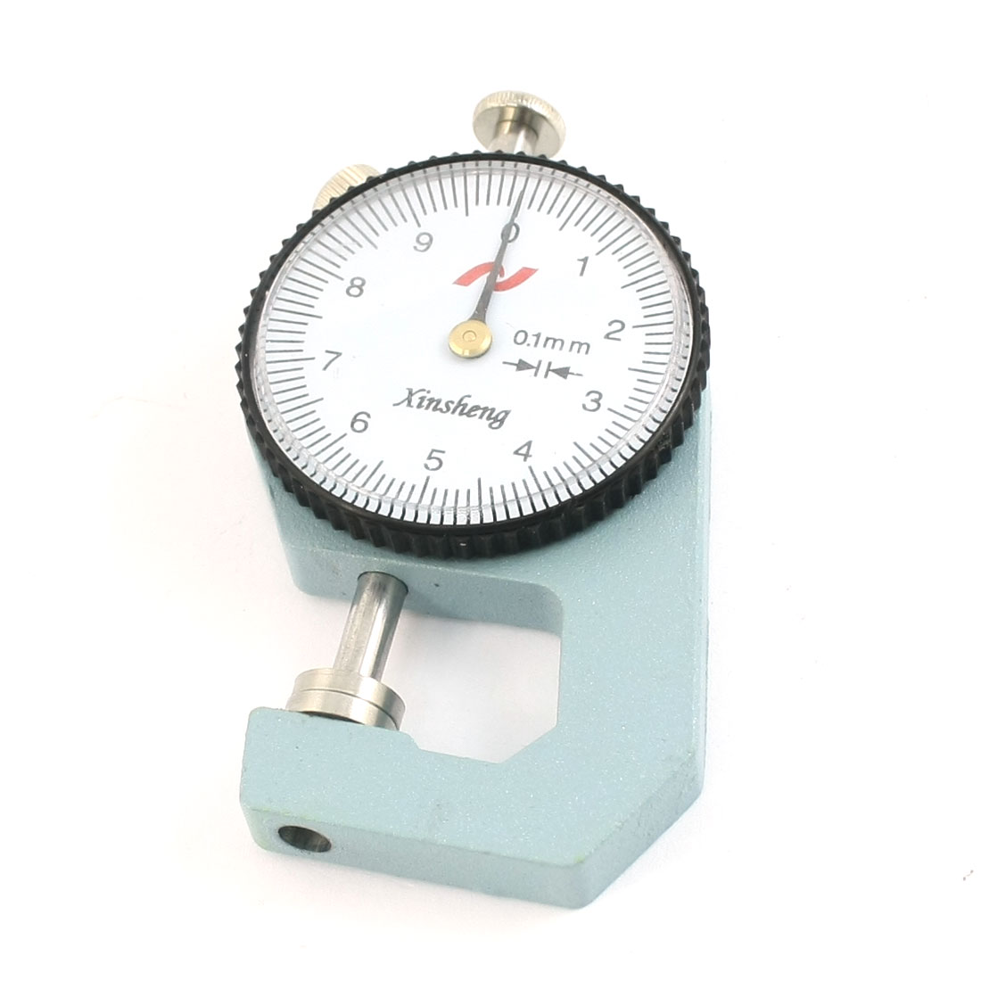 0-10mm x 0.1mm Precision Dial Thickness Gauge Measuring Tool w Rectangle Plastic Case