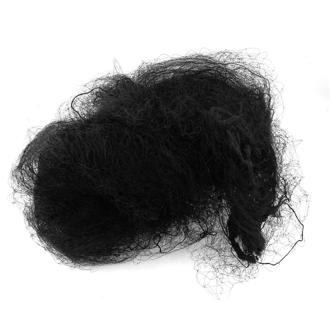 Black Wide Garden Anti Bird Netting Nylon Knotted Mist Net 110.2ft x 24.6ft