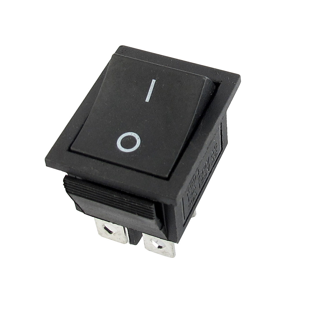 AC250V 15A AC125V 20A DPST 4-Pin 2-Position ON/OFF Snap in Mount Boat Rocker Switch Black
