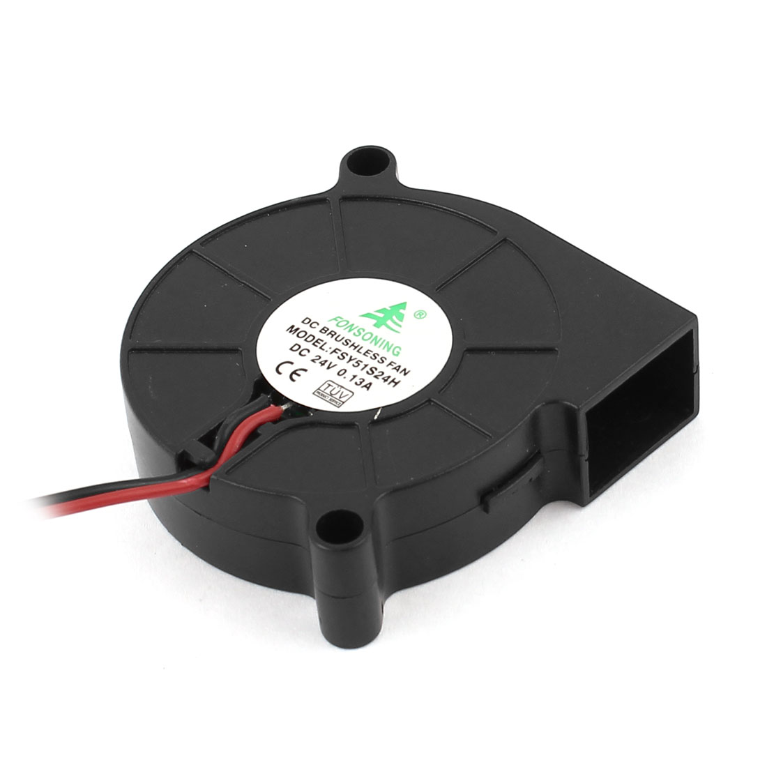 DC 24V 0.13A 2 Pin Connector Brushless Turbo Blower Cooling Fan Black