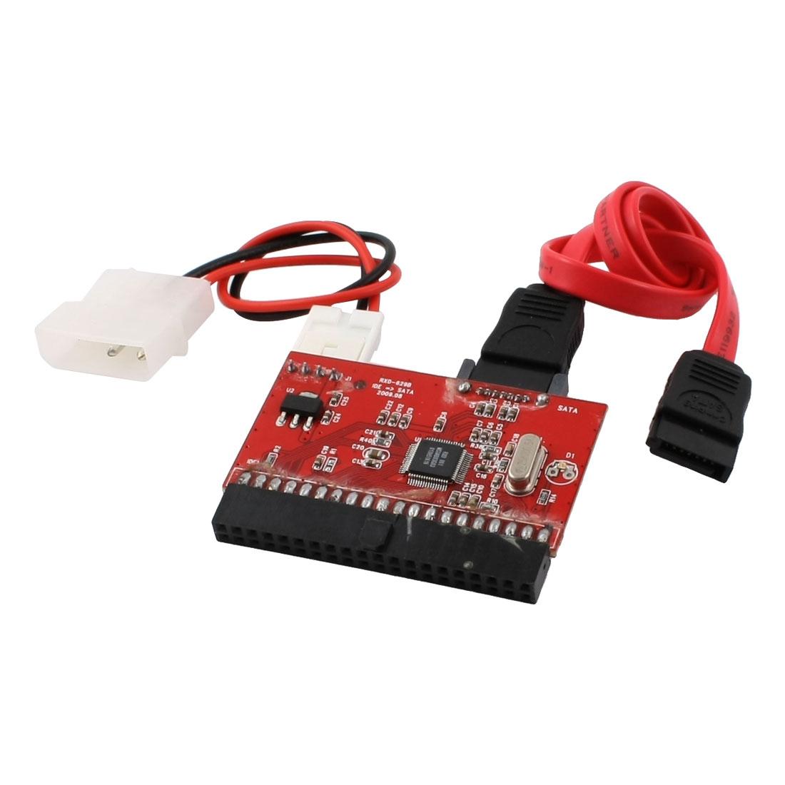"3.5"" IDE Hard Driver Disk 40 Pins Jack HDD to SATA Adapter Converter Adaptor"